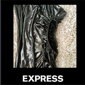 EXPRESS OMBRE ASYMMETRICAL CUT OUT FOIL DRESS